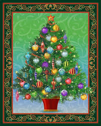 Quilting Treasures-Christmas Tree Panel Lighted - PROJECT SHEET &  Adamdwight.com
