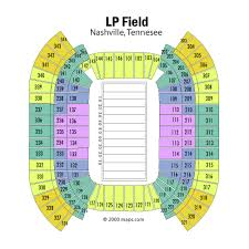 Breakdown Of The Nissan Stadium Seating Chart Tennessee Titans