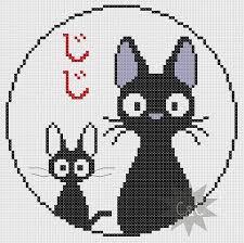Cat Cross Stitch Patterns New Kiki's Delivery Service Studio Ghibli Jiji black cat cross stitch