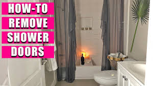 how to remove shower doors