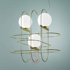 Designer Hanging Light Setareh With Leds Gold