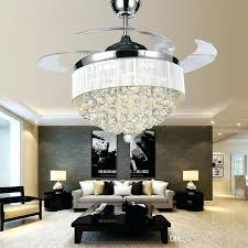 ceiling fan with crystals modern chrome crystal led ceiling fans invisible blades with regard to amazing ceiling fan