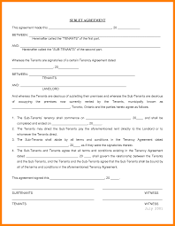 Sublet Agreement 24 Sublet Agreement Forms Student Resume Template 4