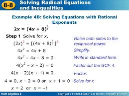 solving equations with rational exponents example 4b 3a picture cute