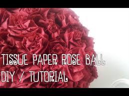 Make Tissue Paper Flower Balls Tissue Paper Rose Ball Diy Tutorial Youtube