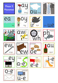 Phonics printable worksheets and activities (word families). Early Learning Resources Phase 5 Phoneme Mat