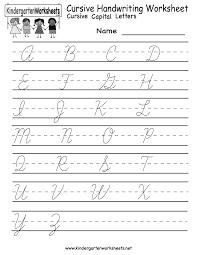 Penmanship Practice Sheet Kindergarten Cursive Handwriting Worksheet Printable