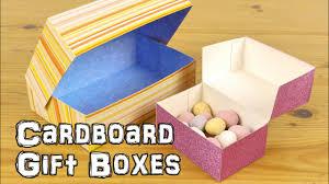 Gift Cardboard Boxes Diy Cardboard Gift Boxes Youtube