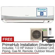 air conditioning unit. daikin 1.0hp inverter air conditioner ftk10q (split indoor + outdoor con unit) conditioning unit