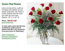 screenshot of flowerpetal rose order