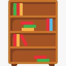 bookshelf bookcase cartoon png and psd