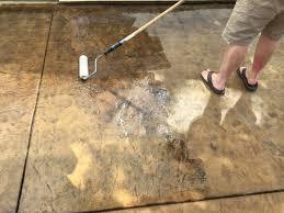 colored concrete patio sealer