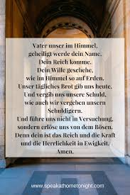 Our Father In German Speak At Home Tonight