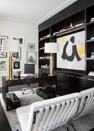 contemporary home office with espresso built ins view full size black contemporary home office