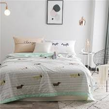 quilted bed covers. Simple Bed 100 Cotton Summer Quilted Bed Covers For Adults Dogs Printed Blanket  QuiltPillow Cases 150x200cm 180x220cm 200x230cm Teen Bedspreads Black And White  Throughout A