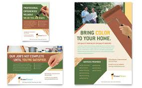 template for advertisement painter painting contractor flyer ad template word publisher