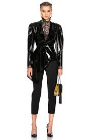 image 1 of lanvin patent leather jacket in black