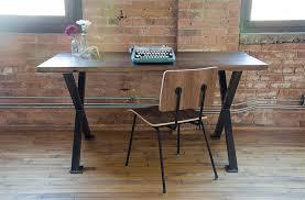 Industrial Modern X Frame Reclaimed Wood Desk