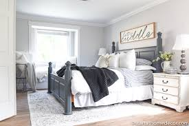 Charcoal and White Master Bedroom Reveal