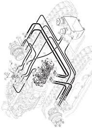 52 track hydraulic circuit 50