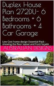 duplex house plan 272du 6 bedrooms 6