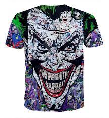 Doodle Shirt Design Joker Colorful Doodle Art Design 3d Full Print T Shirt