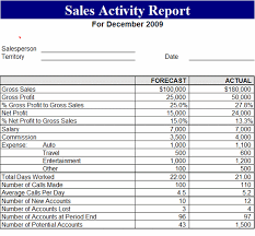 sales activity report excel download sales activity report