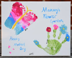 a hand and footprint craft for mother s day