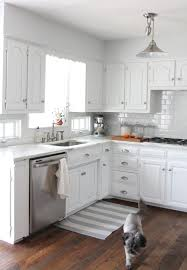 Long Curtains In Kitchen Kitchen All White Kitchen Minimalist White Floating Cabinets In