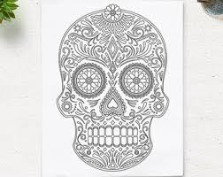 Small Picture Skull coloring page Etsy