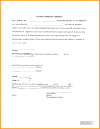 Letter For Power Of Attorney Sample Of Power Attorney Simple Letter Example
