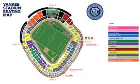 New York Yankees Stadium Seating Chart Yankee Stadium Food Map Map Of Yankee Stadium Food New