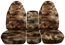 dodge ram 40 20 40 tan digital camo seat covers