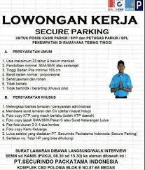 Semoga informasi ini bisa bermanfaat untuk anda yang ingin bekerja di kota tebing tinggi indonesia. Lowongan Kerja Kasir Dan Petugas Parkir Di Secure Parking Ramayana Atmago