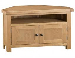 light rustic oak corner tv unit
