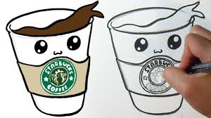 starbucks tumblr drawing cute. Beautiful Tumblr How To Draw Cute Coffee Starbucks Throughout Tumblr Drawing A