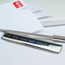 original personalised silver letter opener