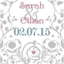 Wedding Cross Stitch Patterns Inspiration Wedding Record Cross Stitch Chart Personalized Wedding Cross Stitch
