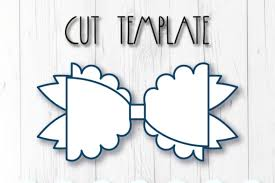These bows can be made using cutting machine or scissors. Hair Bow Template Graphic By Articuties Creative Fabrica