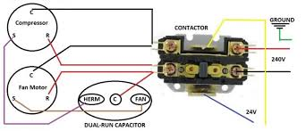 contactor capacitor wiring help hvac diy chatroom home when i looked at that diagram i realized that my old contactor was wired wrong which is weird because it has been wired that way for years