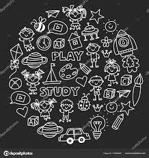 子供の幼稚園保育園幼児教育パターン遊びを落書きしアイコン スペース