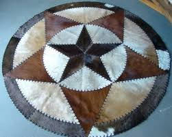 round cowhide rugs star patchwork rug australia
