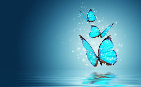 desktop wallpaper butterfly. Simple Desktop Blue Butterfly Water Reflection Is An HD  Desktop Wallpaper Posted In Our Free Image Collection Of Digitalart Wallpapers In Desktop Wallpaper R