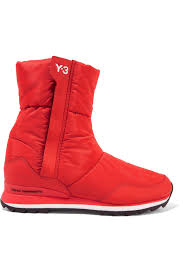 Y-3 + Adidas Originals Rhita Leather-trimmed Quilted Shell Boots ... & Gallery Adamdwight.com