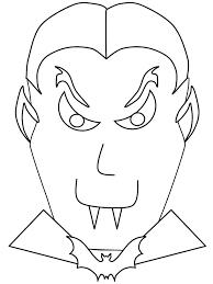Vampier Masker Kleurplaat Vampier Voor Halloween Alles Met Vampieren