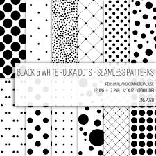 Dot Patterns Interesting SALE Black White Polka Dots Patterns Seamless Paper Etsy