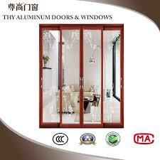 china wood grain decorative tempered glass aluminium used sliding glass doors china aluminum sliding door aluminum door