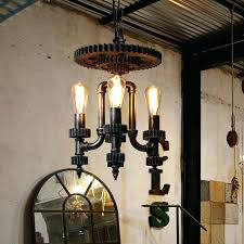 led candle chandelier wheel strong iron loft vintage industrial outdoor flameless candle chandelier