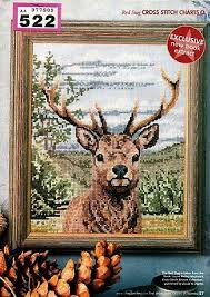 Cross Stitch Chart Regal Red Stag Deer 522 1 25