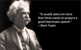 Public Speaking Quotes Cool Quotable Quotes Mark Twain On Impromptu Speaking Phoenix Public